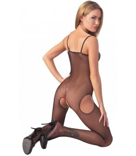 Bodystocking Aperto Nero Rete - Catsuit & Bodystocking