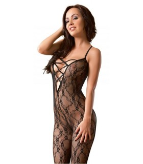 Bodystocking con Aperture Nero Rete - Catsuit & Bodystocking