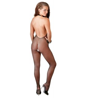 Bodystocking Seno Aperto Nero Rete - Catsuit & Bodystocking