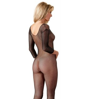 Bodystocking Aperta Nero Rete  - Catsuit & Bodystocking