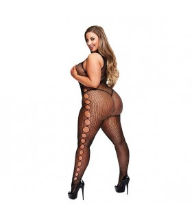 Curvy - Bodystocking senza maniche Nero  - Catsuit & Bodystocking